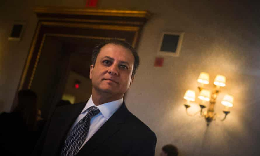 Preet Bharara, US attorney for the southern district of New York, after speaking at the Crain's Business Forum in Manhattan.