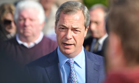 Nigel Farage campaigning In Manchester
