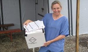 Sue Ellen Kovack worked with Ebola patients in Sierra Leone