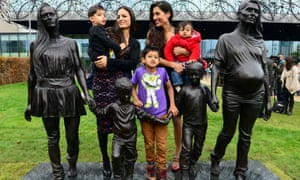 Model family: Gillian Wearing's bronze sculpture, unveiled in Birmingham last week.