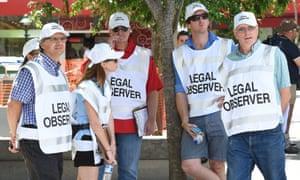 Legal observers in Brisbane