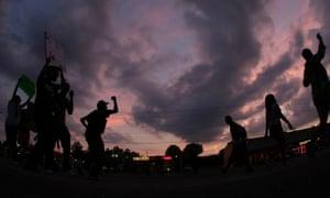 ferguson protest sunset