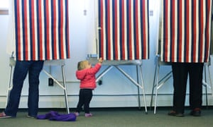 voting booth girl