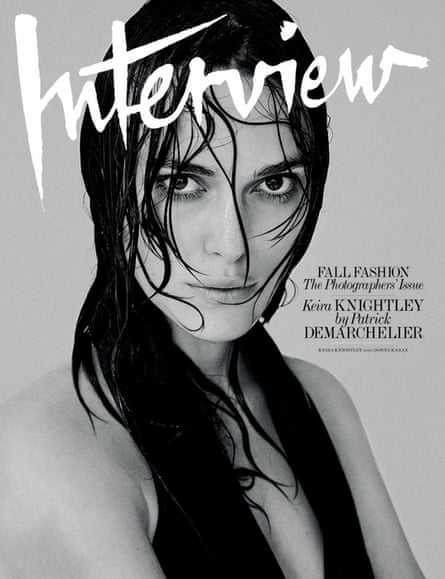 Keira Knightley on the cover of Interview magazine