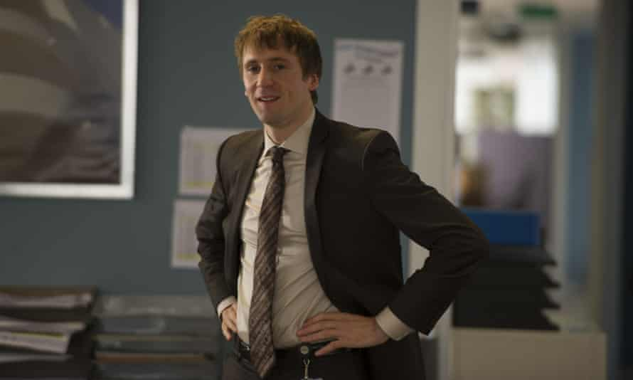 Mathew Baynton as nerdish town planner Sam Pinkett in BBC comedy series The Wrong Mans.