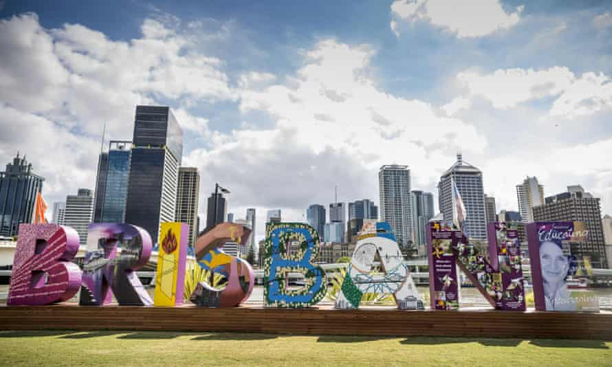 The Brisbane sign at Southbank, which is part of the G20 cultural celebrations before the G20 summit on  November 15- 16.