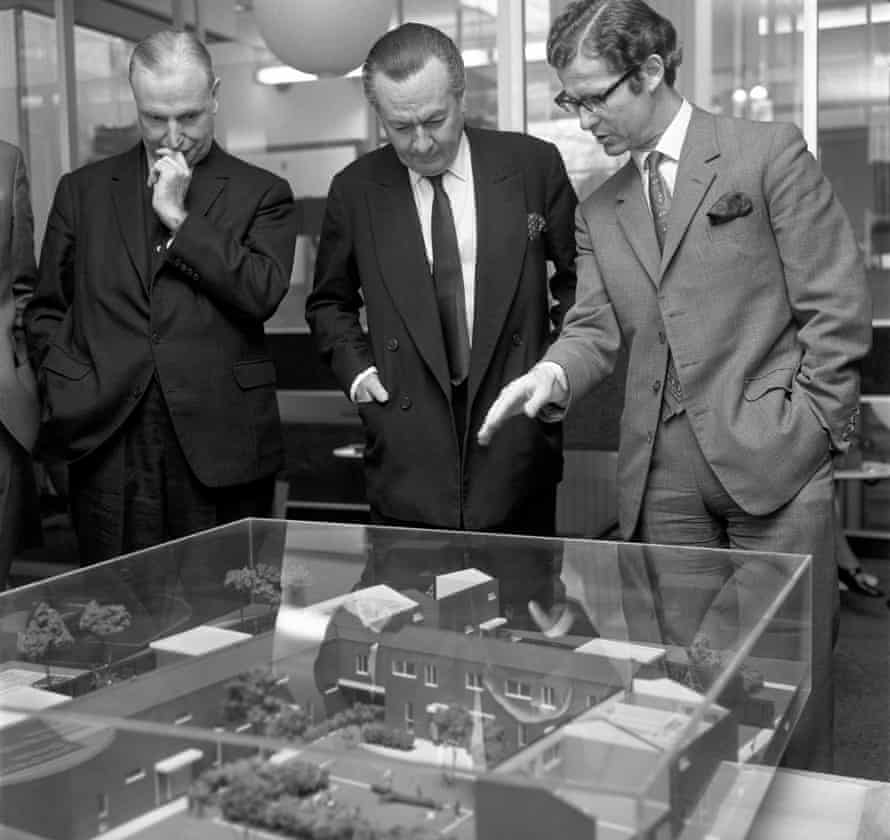 Town planning was a policy priority in earlier decades. Here, housing minister Julian Amery views residential plans for south London in 1971.