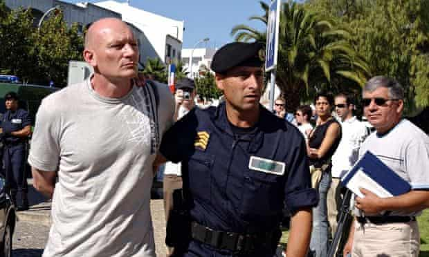 Garry Mann with Portuguese police