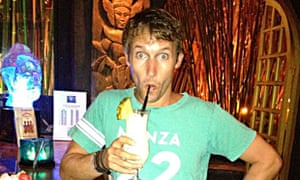 James Blunt sipping a pina colada.