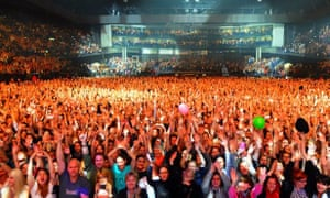 James Blunt's picture from the stage in Zurich.