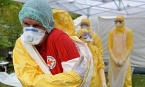 German Red Cross Trains Ebola Volunteers