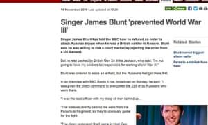 James Blunt … he's got our backs.