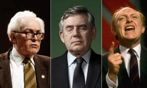 Michael Foot, Gordon Brown and Neil Kinnock