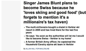 James Blunt … nailed by the Mail.