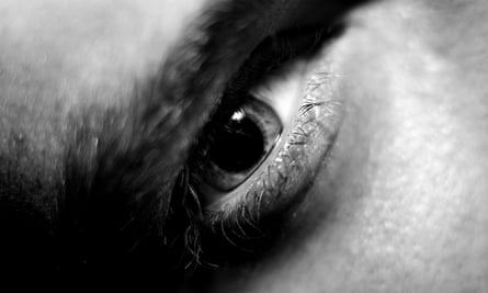 Close-up of a man's eye