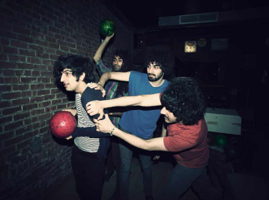"The Yellow Dogs in 2012, from left, Koroush ""Koory"" Mirzaei, Siavash Karampour, Arash Farazmand and Soroush Farazmand at The Gutter in Brooklyn, New York."