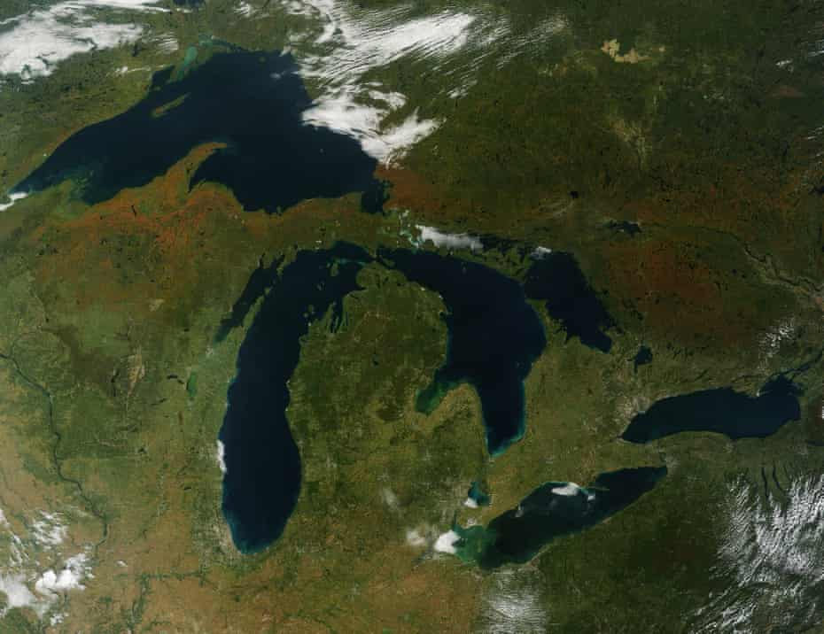 Fall colors around the Great Lakes