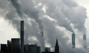 Smoke billows a power plant in Germany.