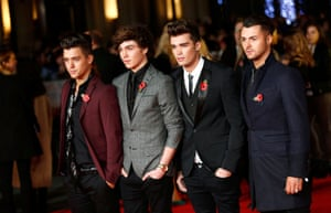 Boy band Union J took time out to attend the premiere, making their way down the red carpet wearing dapper ensembles.