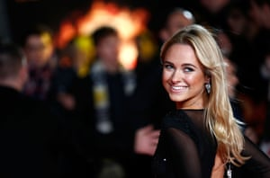 Kimberley Garner was all smiles as she arrived ahead of the screening of the new Hunger Games installment.