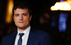 Actor Josh Hutcherson, known as Peeta Mellark in the film franchise, arrives for the big reveal at Leicester Square's Odeon cinema.