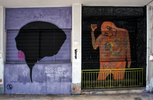 These cerebral works stand side by side in Athens, a city renowned as a base of western philosophy