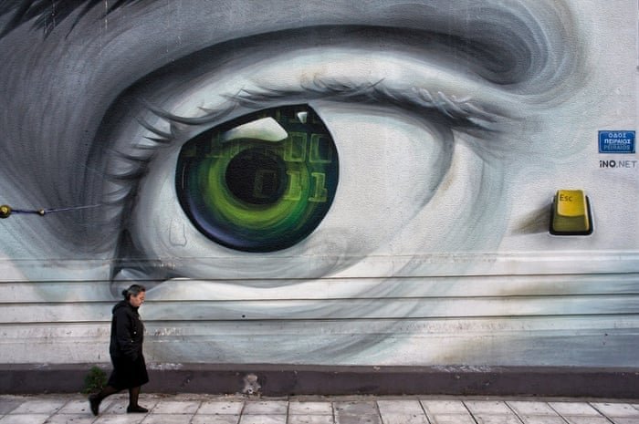 Surveillance by the state also features highly in the minds of graffiti artists in Athens