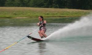 Simone McAdam skiing