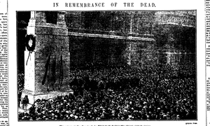 Guardian, 12 November 1919: Two-minute silence at the Cenotaph on Armistice Day, 11 November.