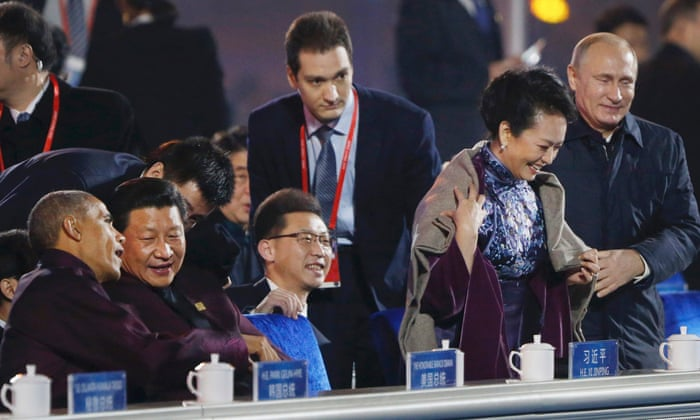 Vladimir Putin S Shawl Gesture To Leader S Wife Covered Up By Chinese World News The Guardian