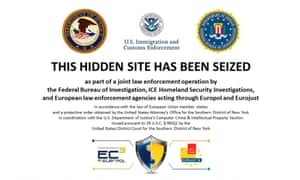 The homepage of Silk Road 2.0 after law enforcement agencies seized the site's servers.