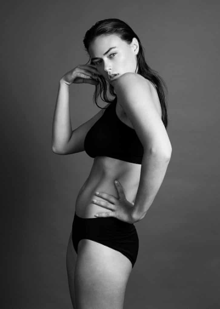 Myla Dalbesio poses for a shot used by her modelling agency, Jag