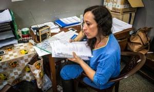 Dr Marta Lado, a volunteer doctor with King's Sierra Leone Partnership,