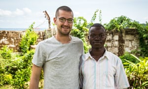 Will Pooley and Douda Fullah are reunited in seen in Freetown.