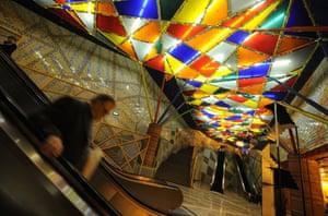 The Olaias metro station in Lisbon, Portugal