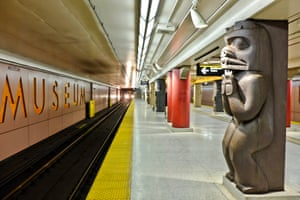 Museum station in Toronto Canada, opened in 1963 and named after the nearby Royal Ontario Museum