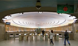The metro station at the Plac Wilsona in Warsaw, Poland