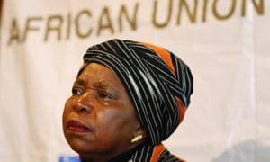 African Union chair Nkosazana Dhlamini-Zuma.