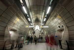 Southwark station on the Jubilee line, London, UK