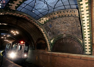 The abandoned station below City Hall in New York, US which closed in 1945