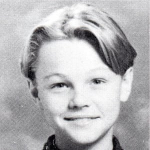 Leonardo DiCaprio in 1991, as pictured in his high school yearbook.