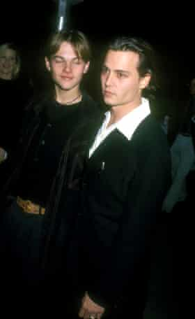 Leonardo DiCaprio and Johnny Depp at the premiere of What's Eating Gilbert Grape?