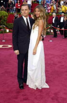 Leonardo with his then girlfriend Gisele Blundchen at the 2005 Oscars.