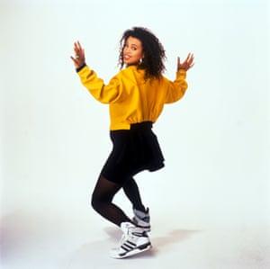 Portrait of Neneh Cherry pregnant, 1989