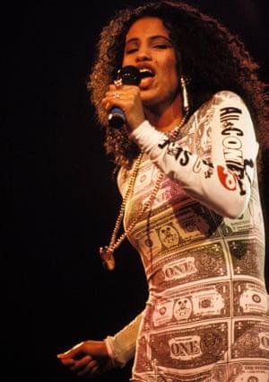 Neneh Cherry in the dollar bodysuit.