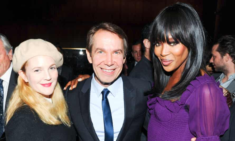 Drew Barrymore, Jeff Koons and Naomi Campbell at the Project Perpetual auction
