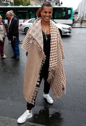 Neneh Cherry attends the Stella McCartney show during Paris fashion week womenswear S/S 2015