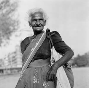 Old Lady on Chowpatti beach