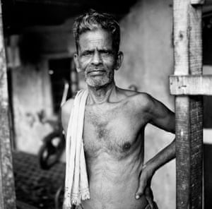 Man close to Dhobi Ghat Saat Rasta round about Laundry district 2003