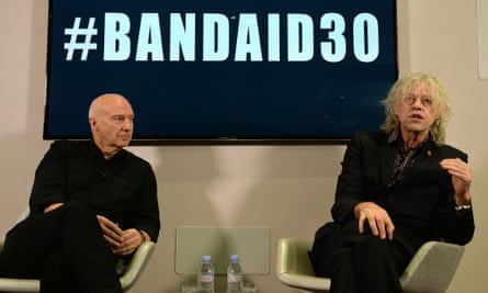 Bob Geldof and Midge Ure launch Band Aid 30 to help fight Ebola in west Africa.